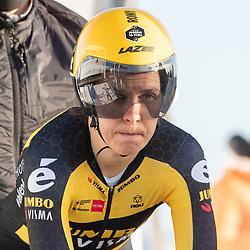 11-03-2021: Wielrennen: Healthy Ageing Tour: Lauwersoog. <br />Romy Kasper
