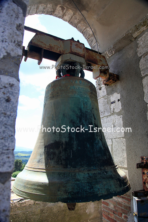 The bell in the belfry Montepulciano, Tuscany, Italy