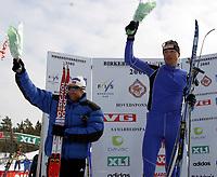 Langrenn ,Birkebeinerrennet   19 mars  2005 , Birkebeineren Skistadion  <br /> <br /> Stanislav Rezac , Tsjekkia vant , Odd-Bjørn Hjelmeset ble nummer to og Jerry Ahrlin , Østersund ble nummer tre(ikke på blomstersermoni)