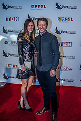 October 11, 2016 - Nashville, Tennessee, USA - Mike Donahey from Tenth Avenue North and his wife at the 47th Annual GMA Dove Awards  in Nashville, TN at Allen Arena on the campus of Lipscomb University.  The GMA Dove Awards is an awards show produced by the Gospel Music Association. (Credit Image: © Jason Walle via ZUMA Wire)