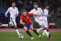 Marcos Llorente Spagna, Domenico Berardi Italia <br /> Roma 27-02-2017, Stadio Olimpico<br /> Football Friendly Match  <br /> Italy - Spain Under 21 Foto Andrea Staccioli Insidefoto
