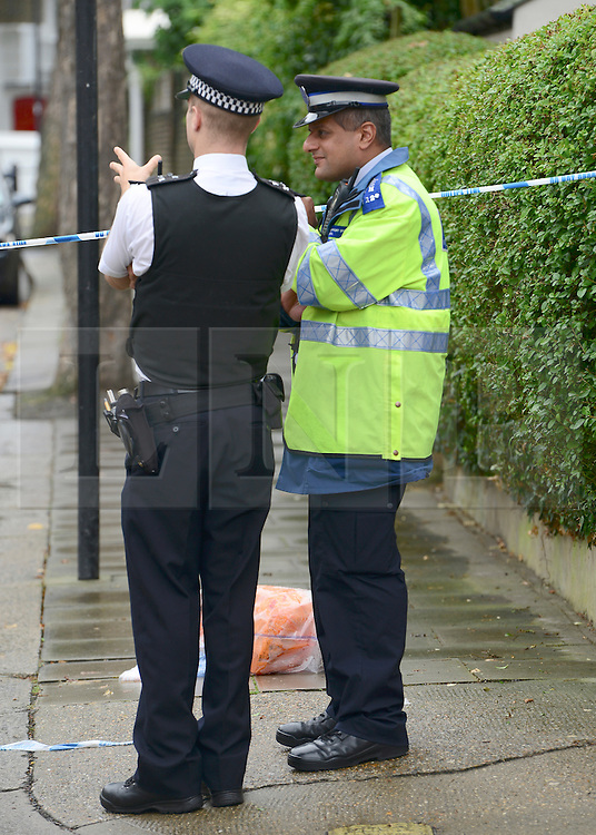 © Licensed to London News Pictures. 30/08/2012. London, UK A street cleaner who was stabbed as he tackled a burglar has died of his injuries,after being stabbed when disturbing a burglary in Shepherds Bush in West London today 30 August 2012. Photo credit : Stephen Simpson/LNP