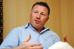 """Steve Collins (AKA the Celtic Warrior):-  former world champion middleweight boxer, has also had parts in Lock Stock and Two Smoking Barrels and U2 Video  is guest of honor at """"A Banquet To Champions"""" held at the Brooklands Hotel Rotherham..1 September 2006.Copyright Paul David Drabble"""