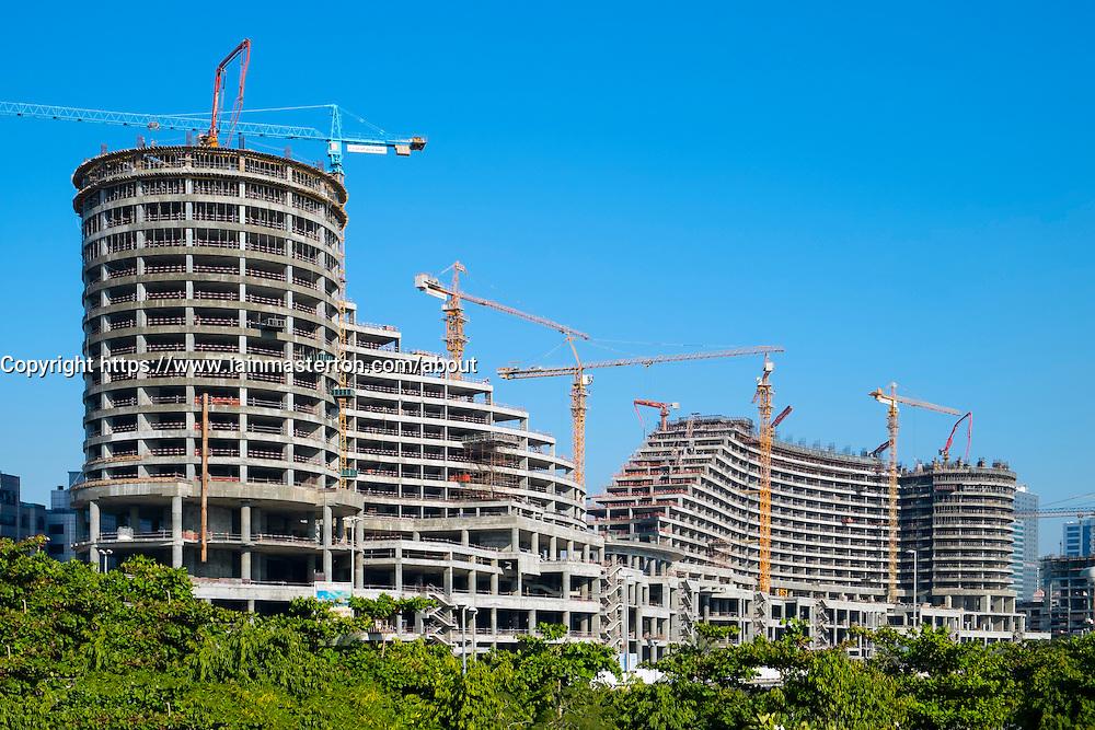 Construction of Sharjah Mall in Sharjah in United Arab Emirates