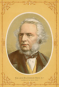'Charles Reed  (1819-1881) English typefounder, Liberal politician and philanthropist, Member of Parliament for Hackney 1868-1874, Chairman of the London School Board. Colour-printed wood engraving c1880.'