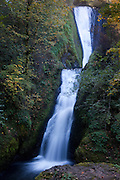 Bridal Veil Falls drops approximately 140 feet (42 metres) in the Columbia Gorge in Oregon.