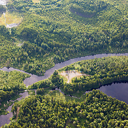 Cold Stream and Lone Jack Pond surrounded by industrial timberland in Maine's Northern Forest.