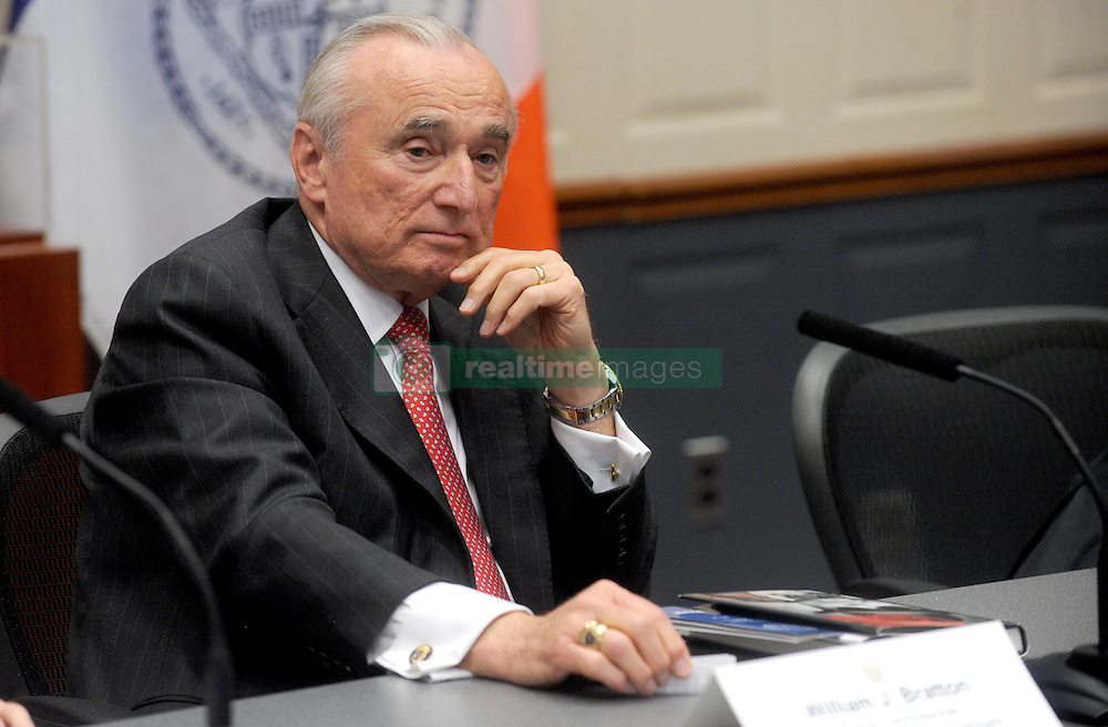 Police Commissioner Bill Bratton speaks at a press conference to discuss crime statistics in New York City, NY, USA, on August 4, 2016. Bratton announced Tuesday that he will be resigning as NYPD commissioner. Photo by Dennis Van Tine/ABACAPRESS.COM