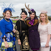 08.10.17.            <br /> Pictured at Limerick Racecourse for the  Keanes Most Stylish Lady competition were, Ann Marie Mitchell, Antoinette O'Connell, Ailish McElroy and Joanne Callinan. Picture: Alan Place