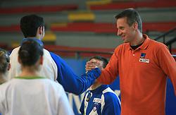 """Aljaz Pegan at event """"Slovenian Gymnastics stars"""" after the European Championships in Milano, on April 6, 2009, in Hall Slovan, Kodeljevo, Ljubljana, Slovenia. (Photo by Vid Ponikvar / Sportida)"""