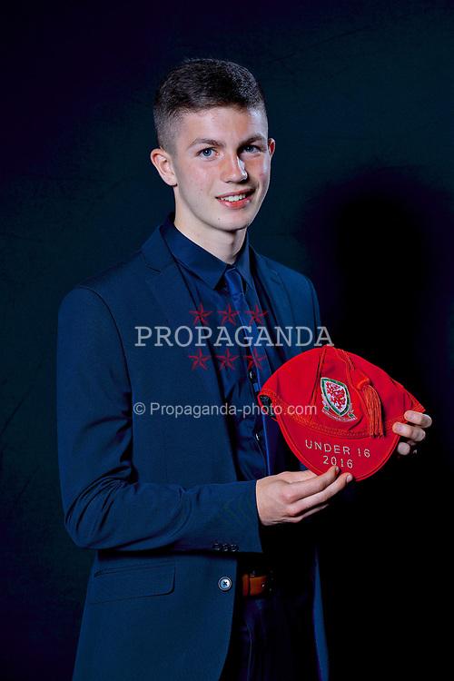 NEWPORT, WALES - Saturday, May 27, 2017: Bailey Owen with his Under-16 Wales cap at the Celtic Manor Resort. (Pic by David Rawcliffe/Propaganda)