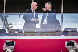 June 18, 2018 - Nizhny Novgorod, Russia - Gianni Infantino, FIFA president, Karl-Erik Nilsson Swedish Football Association..2018 FIFA World CUP, Sweden - South Korea, 1-0, Nizhny Novgorod Stadium, Russia, 2018-06-18..(c) ORRE PONTUS  / Aftonbladet / IBL BildbyrÃ¥....* * * EXPRESSEN OUT * * *....AFTONBLADET / 85527 (Credit Image: © Orre Pontus/Aftonbladet/IBL via ZUMA Wire)