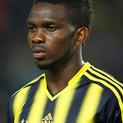Fenerbahce's Joseph Michael Yobo during the UEFA Champions League Play-Offs First leg soccer match Fenerbahce between Arsenal at Sukru Saracaoglu stadium in Istanbul Turkey on Wednesday 21 August 2013. Photo by Aykut AKICI/TURKPIX