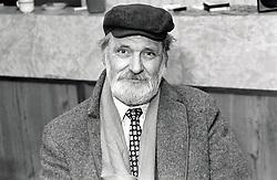 Portrait of an elderly man, All Saints Community Centre, Nottingham, UK 1987