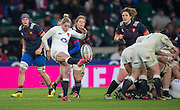 Twickenham, United Kingdom. Natasha HUNT clearing the ball from behind the scrum during the Women's RBS. Six Nations : England Women  vs France Women. at the  RFU Stadium, Twickenham, England, <br /> <br /> Saturday  04/02/2017<br /> <br /> [Mandatory Credit; Peter Spurrier/Intersport-images]