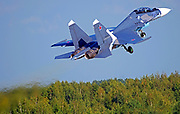 Sukhoi Su-30SM (Flanker-C) is a twin-engine, two-seat supermaneuverable fighter aircraft developed in the Soviet Union by Russia's Sukhoi Aviation Corporation. It is a multirole fighter for all-weather, air-to-air and air-to-surface deep interdiction missions.