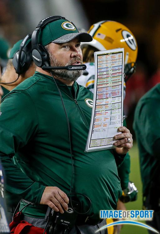 Aug 26, 2016, Santa Clara, CA, USA; Green Bay Packers head coach Mike McCarthy during in a preseason NFL game against the San Francisco 49ers at Levi's Stadium. Green Bay beat San Francisco 21-10.