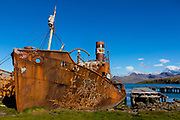 The old whaling station of Grytviken, South Georgia, Antarctica.