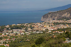 Sorrento, Italy, September 16 2017. A general view towards Piano di Sorrento, Italy, photographed from the mountains. © Paul Davey