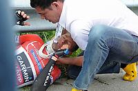 Sykkel<br /> 10.06.2013<br /> Sveits Rundt<br /> Foto: imago/Digitalsport<br /> NORWAY ONLY<br /> <br /> Schwerer Sturz bei Tour de France Mitfavorit Ryder HESJEDAL ( CAN / Garmin - Sharp ) -<br /> <br /> Tour de Suisse 2013 - 3.Etappe: Montreux nach Meiringen 203.3 km