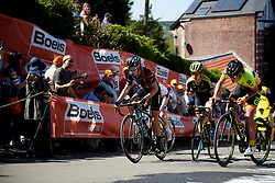 Pauline Ferrand Prevot (FRA) sets the pace on Mur de Huy at La Flèche Wallonne Femmes 2018, a 118.5 km road race starting and finishing in Huy on April 18, 2018. Photo by Sean Robinson/Velofocus.com