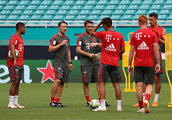 July 27, 2018 - Miami Gardens, Florida, USA - FC Bayern head coach NIKO KOVAC talks to players during a practice session in preparation for an International Champions Cup match against Manchester City at the Hard Rock Stadium in Miami Gardens, Florida. (Credit Image: © Mario Houben via ZUMA Wire)