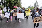 Black Lives Matter march in Mercer Island, WA USA