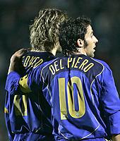Siena 23-10-04 Campionato di calcio Serie A 2004-05<br /> <br /> Siena Juventus 0-3<br /> <br /> Alessandro Del Piero e Pavel Nedved<br /> <br /> Foto Graffiti