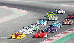 Start of motor race at Dubai Autodrome in Motor City in Dubai United Arab Emirates