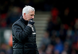 West Bromwich Albion manager Alan Pardew during the Premier League match at the Vitality Stadium, Bournemouth.