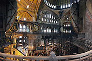 balcony interior view of Hagia Sophia in Istanbul