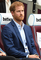 The Duke and Duchess of Cambridge and Prince Harry attend the graduation ceremony for more than 150 Coach Core apprentices at The London Stadium, London, UK, on the 18th October 2017. 18 Oct 2017 Pictured: Prince Harry. Photo credit: James Whatling / MEGA TheMegaAgency.com +1 888 505 6342