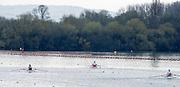Caversham. Berkshire. UK<br /> Three GBR ASM1Xon the training lake at the  2016 GBRowing, Para Rowing Media Day, UK GBRowing Training base near Reading, Berkshire.<br /> <br /> Friday  15/04/2016<br /> <br /> [Mandatory Credit; Peter SPURRIER/Intersport-images]