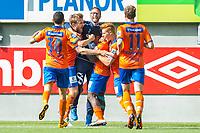 Fotball , 31 Juli 2016 , Tippeligaen , Eliteserien , Aalesund - Lillestrøm , Frond Fredriksen , Franck Sylvestre Fortune Boli<br /> <br /> Foto: Marius Simensen, Digitalsport