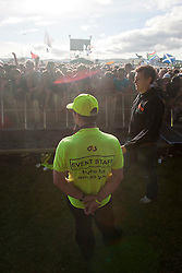 Security at Jamie T on the NME stage, Friday at T in the Park 2010..Pic ©2010 Michael Schofield. All Rights Reserved.