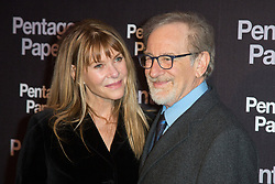 Steven Spielberg and his wife Kate Capshaw attends the 'Pentagon Papers' Paris film premiere at UGC Normandie cinema on January 14, 2018 in Paris, France. Photo by Nasser Berzane/ABACAPRESS.COM