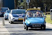 EINDHOVEN, 27-04-2021, High Tech Campus<br /> <br /> Koning Willem-Alexander en zijn dochter prinses Amalia tijdens Koningsdag 2021 op de High Tech Campus in Eindhoven Foto: Brunopress/POOL/Koen van Weel<br /> <br /> King Willem-Alexande during King's Day 2021 at Eindhoven