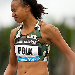 adidas Grand Prix Diamond League professional track & field meet: womens long jump, Tori POLK, USA