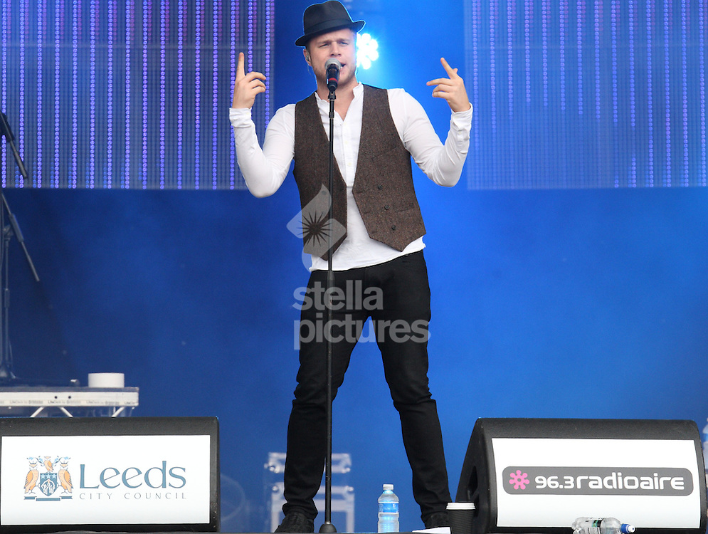 Picture by Stephen Gaunt/Stella Pictures Ltd +447904 833202<br /> 28/07/2013<br /> Olly Murs performing at 96.3 FM Radio Aire Party in the Park at Temple  Newsam House, Leeds.
