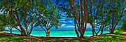 Lanikai beach panorama on Oahu, Hawaii