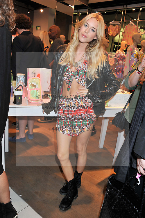 MARY CHARTERIS at a party to celebrate the launch of Louise Gray's make-up and clothing collections for Topshop held at Topshop Edited, 286 Regent Street, London on 22nd August 2012.