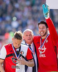 14-05-2017 NED: Kampioenswedstrijd Feyenoord - Heracles Almelo, Rotterdam<br /> In een uitverkochte Kuip pakt Feyenoord met een 3-1 overwinning het landskampioenschap / Brad Jones #25