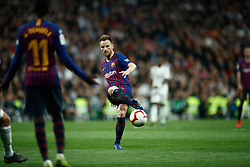 March 2, 2019 - Madrid, MADRID, SPAIN - Ivan Rakitic of FC Barcelona during the spanish league, La Liga, football match played between Real Madrid and FC Barcelona at Santiago Bernabeu Stadium in Madrid, Spain, on March 02, 2019. (Credit Image: © AFP7 via ZUMA Wire)
