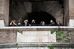 Rome@2013 - Tourists on Colosseum