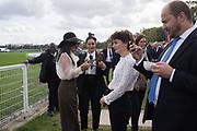 SABRINE ZOUAOUI, ( WHITE SHIRT AND HAT, ) NASSIRA ZOUAOUI, Qatar Prix de l'Arc de Triomphe, Longchamp, Paris, 6 October 2019