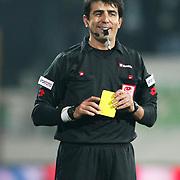 Referee's Suleyman ABAY during their Turkish soccer super league match Bursaspor between Ankaragucu at Ataturk Stadium in Bursa Turkey on Monday, 21 March 2011. Photo by TURKPIX