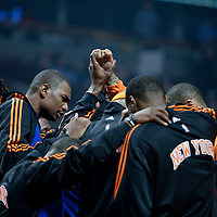 17 December 2009: New York Knicks gather during the Chicago Bulls 98-89 victory over the New York Knicks at the United Center, in Chicago, Illinois, USA.