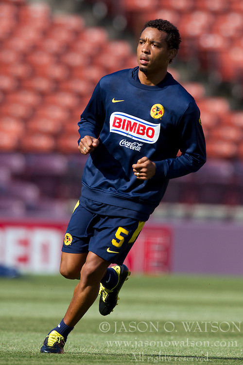 August 3, 2010; San Francisco, CA, USA;  Club America midfielder Rosinei (5) practices at Candlestick Park a day before their match with Real Madrid.