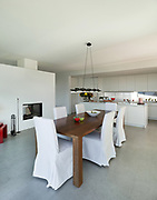Interior of a modern house, nice bright dining room