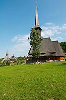 Roumanie, region de Maramures, Carpates, monastere en bois de Barsana. Patrimoine mondial de l'Unesco.// Romania, Maramures, Carpates, wood monastery of Barsana. Unesco world heritage